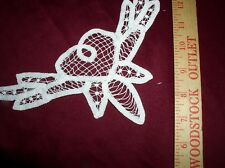 """Six White 9.5""""(24.3cm) Battenburg Lace Insert-Hearts & Leaves By Wang's Int'l"""
