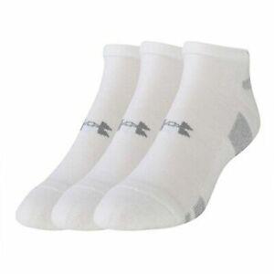 Under Armour Boys No Show Socks 3 Pack Shoe Liner 1250409 100