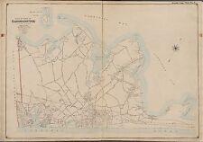 1902 SHELTER ISLAND EASTHAMTON GARDINER'S BAY SUFFOLK COUNTY NY ATLAS MAP