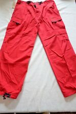 New Lava Bay Men's Red Cargo Utility Pants Various Sizes Great Price!!!