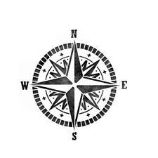 Compass Stencil Durable & Reusable Plastic Stencils 6x6