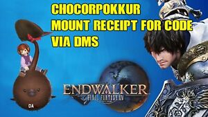 Final Fantasy XIV ONLINE Chocorpokkur Mount! Via EMAIL (3-5 Day Delay)