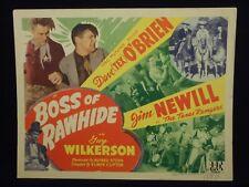 Dave O'Brien The Texas Rangers Boss of Rawhide 1943 Title Lobby Card Blackface