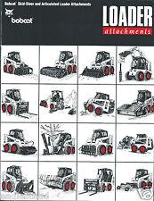 Equipment Brochure - Melroe - Bobcat - Loader Attachments - c1991 (E2957)