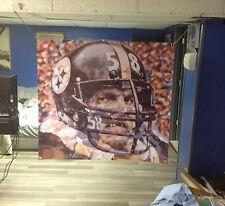 HUGE! 40x36. JACK LAMBERT Vinyl Banner POSTER art!! PITTSBURGH STEELERS football