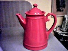 Large Red Vintage Ornate Teapot