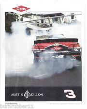 "2017 AUSTIN DILLON ""DOW HUMAN ELEMENT AT WORK"" #3 MONSTER ENERGY NASCAR POSTCARD"