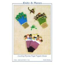 Knits & Pieces DK Knitting Pattern - Counting Rhymes Finger Glove Puppets