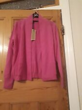 df286b1f30 Bnwt - ex MARKS   SPENCER - pink PURE CASHMERE CARDIGAN - SIZE 14 MEDIUM  pink