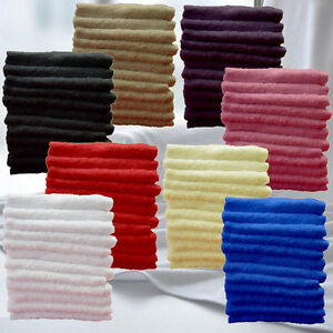 Pack of 2 6 12 Egyptian Luxury 100% Super Soft Cotton Towels  500 GSM Face Cloth