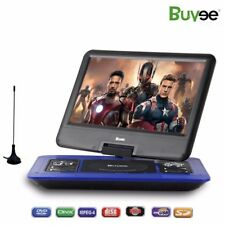 """13.3"""" Portable Rechargeable DVD Player 270° Swivel Screen 300 Games SD USB UK"""