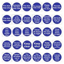 Fire Door Signs Vinyl Stickers - Keep Shut Safety Keep Clear Closed Locked