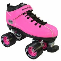 New Riedell Dart Speed Roller Skates - Pink Size 8