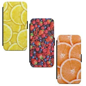 Fruit Pattern Print WALLET FLIP PHONE CASE COVER FOR IPHONE SAMSUNG HUAWEI