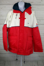 BOAT U.S. Deck Jacket Red White Mens Size 2XL Zip Up Winter Coat Fishing Boating