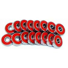 8 PACK SKATE FIDGET BEARINGS long board roller spinner toys 608rs reds lot 8mm