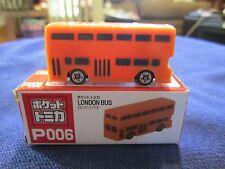 Tomica Taito Prize Half Size P006 London Bus ORANGE N Scale 1:160
