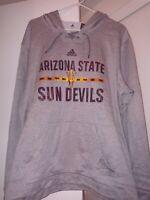 adidas Men's ASU Arizona State Sun Devils Gray Hoodie AZ NCAA Sz XL MSRP $75 New