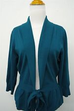 The Limited blue shawl open wrap knit cardigan sweater shrug top - L womens#5368