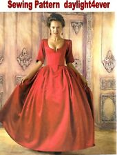 Women 18th Century Dress Gown Costume Sewing Pattern 8411 NEW Size 6-14 #u