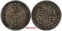 British West Indies Anchor Money Issue Silver 1822 1/16 Dollar SCARCE KM# 1
