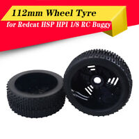 2PCS 1/8 RC Car Rubber Tyres Wheels for Redcat HPI Hobao HSP Buggy Car Truck