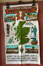 Vintage Souvenir Tea Towel Gretna Green Gateway To Scotland Excellent Condition