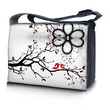 """17.3"""" 17"""" Laptop Notebook Padded Compartment Shoulder Messenger Bag Love Birds"""