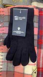 100% Lambswool Gloves   Johnstons of Elgin   Made in Scotland   Navy   Warm