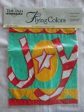 New listing Toland Christmas Joy Applique Garden Flag 11 x 15 New
