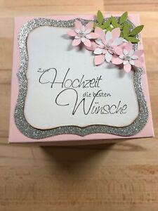 Geldgeschenk zur Hochzeit Explosionsbox Handarbeit Geschenkschachtel