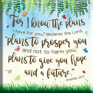 For I Know the Plans Fridge Magnet Ideal Christian Gift Birthday Christmas Bible