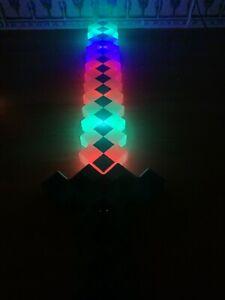 Flashing Led light up Multi  pixel Toy Sword  glows boys girls birthday