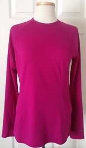 NWT Womens The North Face Light Long Sleeve Crewneck Shirt Base Layer Plum S