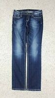 ReRock Express Women's Skinny Dark Faded Wash Blue Jeans Size 6R Stretch