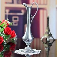Pewter Plated Metal Vase Flower Bottle Vintage Flowers Holder Jug Gift #2