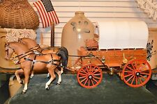 R.W. Wagoner Miniaturist Intricate Chuck Wagon 1972 Sculpture with Breyer Horses