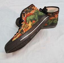 Custom Godzilla high top sneakers (from Janis Ian)