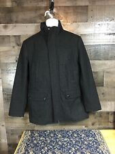MICHAEL KORS Men BLACK PEACOAT OVERCOAT WINTER JACKET COAT SIZE M Excellent