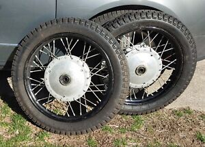 Vintage Pair of 19 inch Wheels for Dnepr Ural K750 MB750 MB650 Perfect w/ Tires