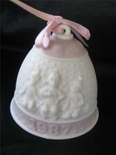 Lladro 1987 First Annual Christmas Holiday Bell Ornament Children Snow 4548