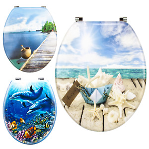 Heavy Duty Toilet Seat Novelty Designs Print MDF WC Seats Loo Seat Durable