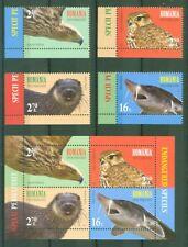 Rumanía Romania 2017-especies en peligro-joint issue onu - 7218-21 + bloque 700