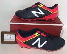 NEW BALANCE MENS SIZE 9.5 WIDE VISARO PRO FG SOCCER SHOES BLUE RED YELLOW GALAXY