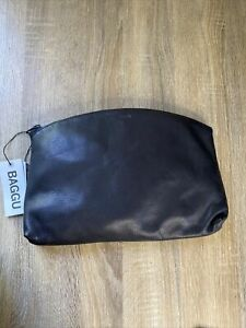 New Baggu Leather Clutch Black Sold Out