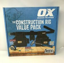 6 Piece OX Tools Construction Rig Outback Leather Framer's Rig W/ Hammer & tape