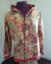 CHRISTOPHER AND BANKS WOMENS MULTI COLOR ZIP UP LONG SLEEVE HOODIE XL