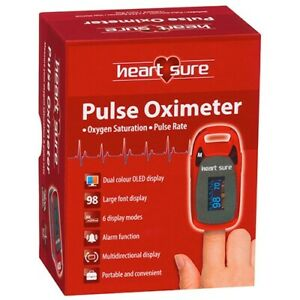 Heart Sure Pulse Oximeter A320 Measure Oxygen Saturation Pulse Rate OLED Display