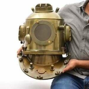 Diving Helmet Italia US Navy Mark V Deep Sea Scuba Rope Marine Replica Halloween