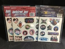 Backstreet Boys and N Sync Stickers 36 Total Free Shipping!